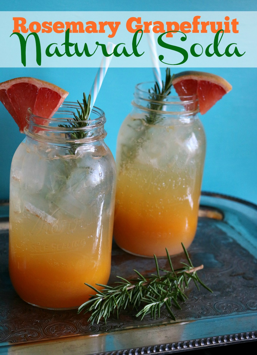 Recipe for Rosemary Grapefruit Natural Soda PIN