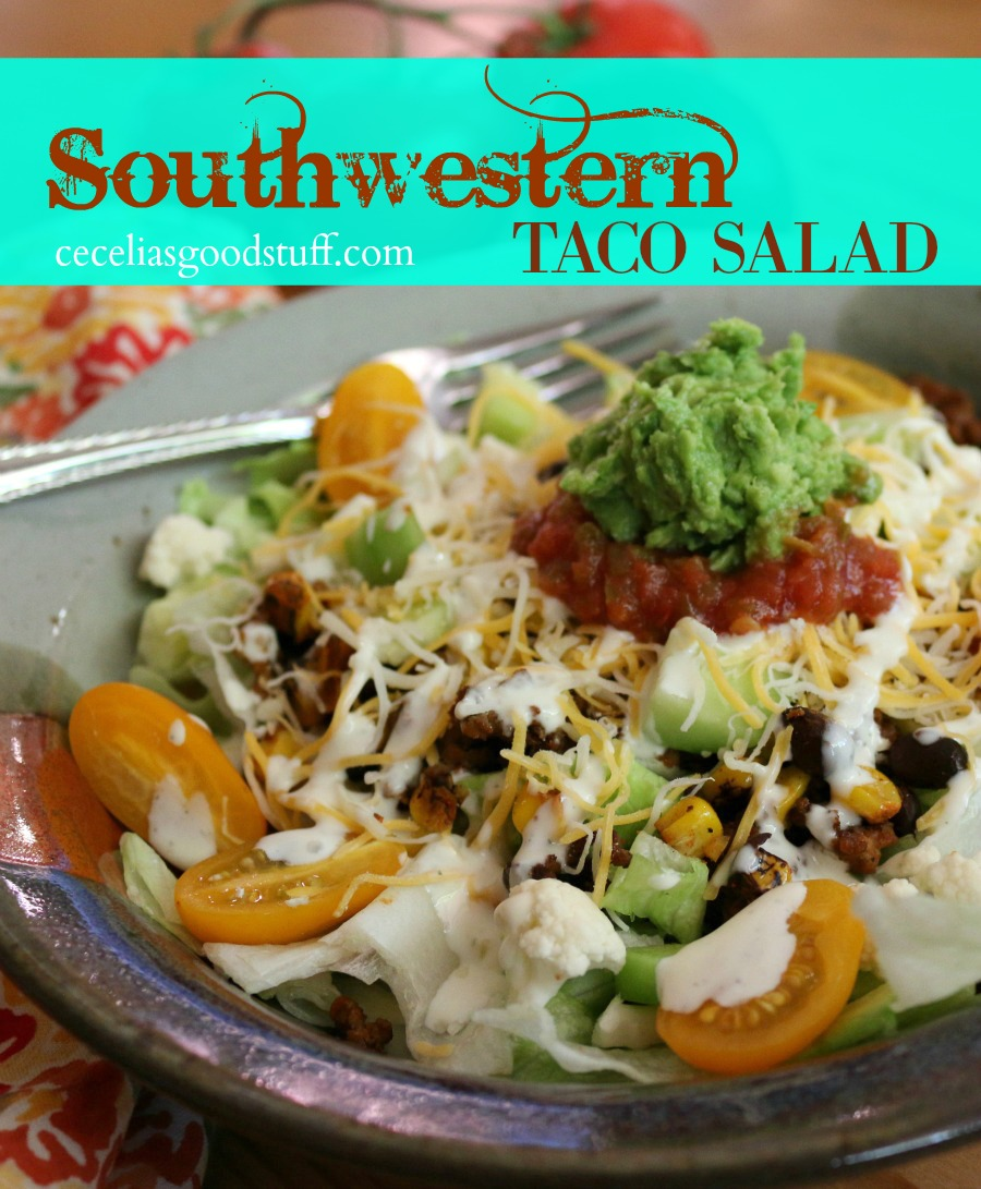 Recipe for Southwestern Taco Salad