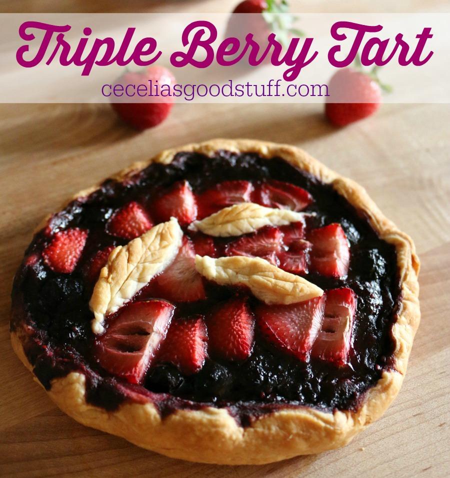 Dessert Recipe for Triple Berry Tart