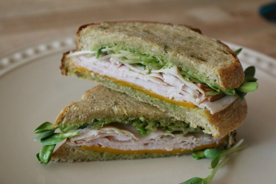 Green Chile Sourdough Turkey Sandwich
