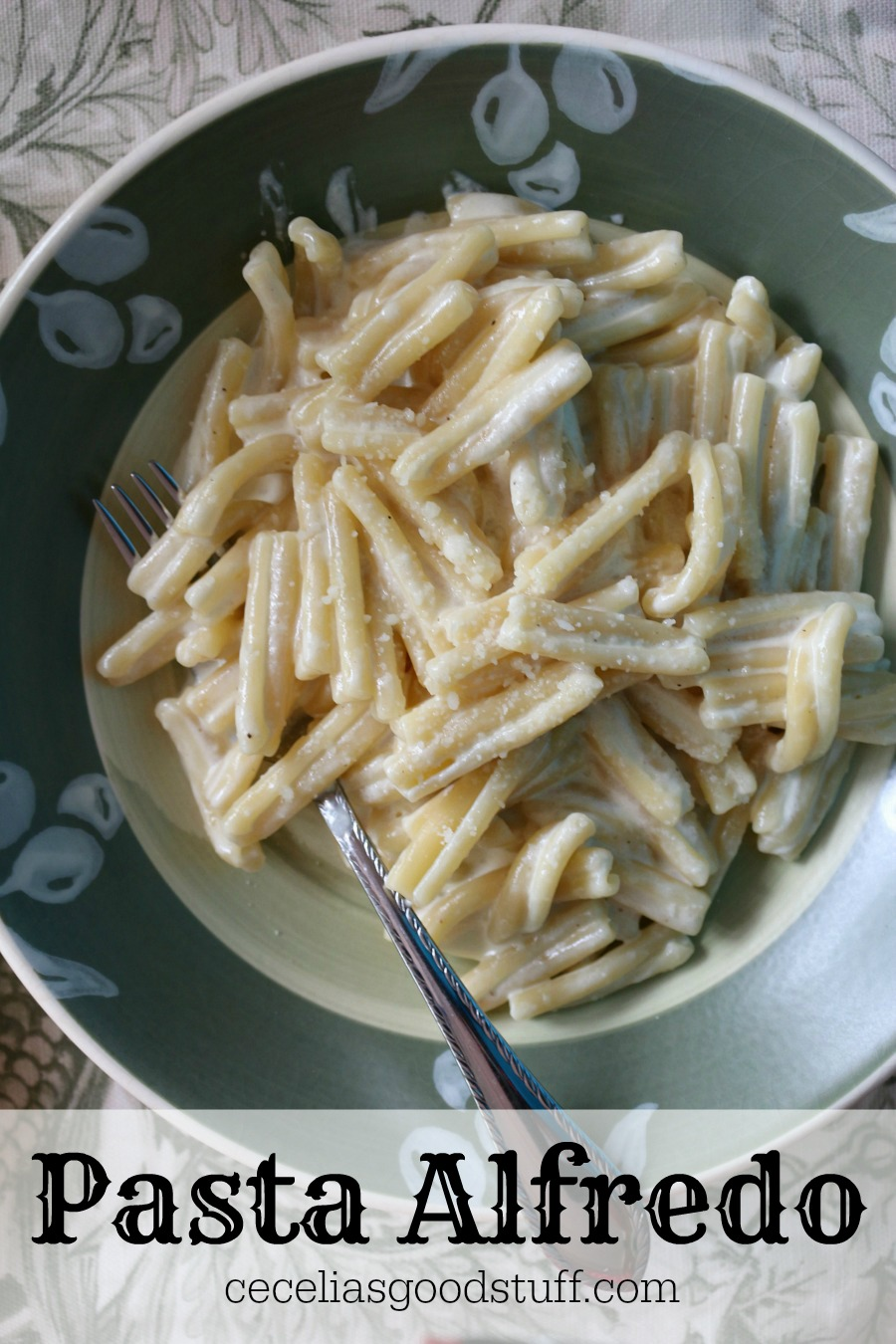 Easy Pasta with Alfredo Sauce. It doesn't get better than this.