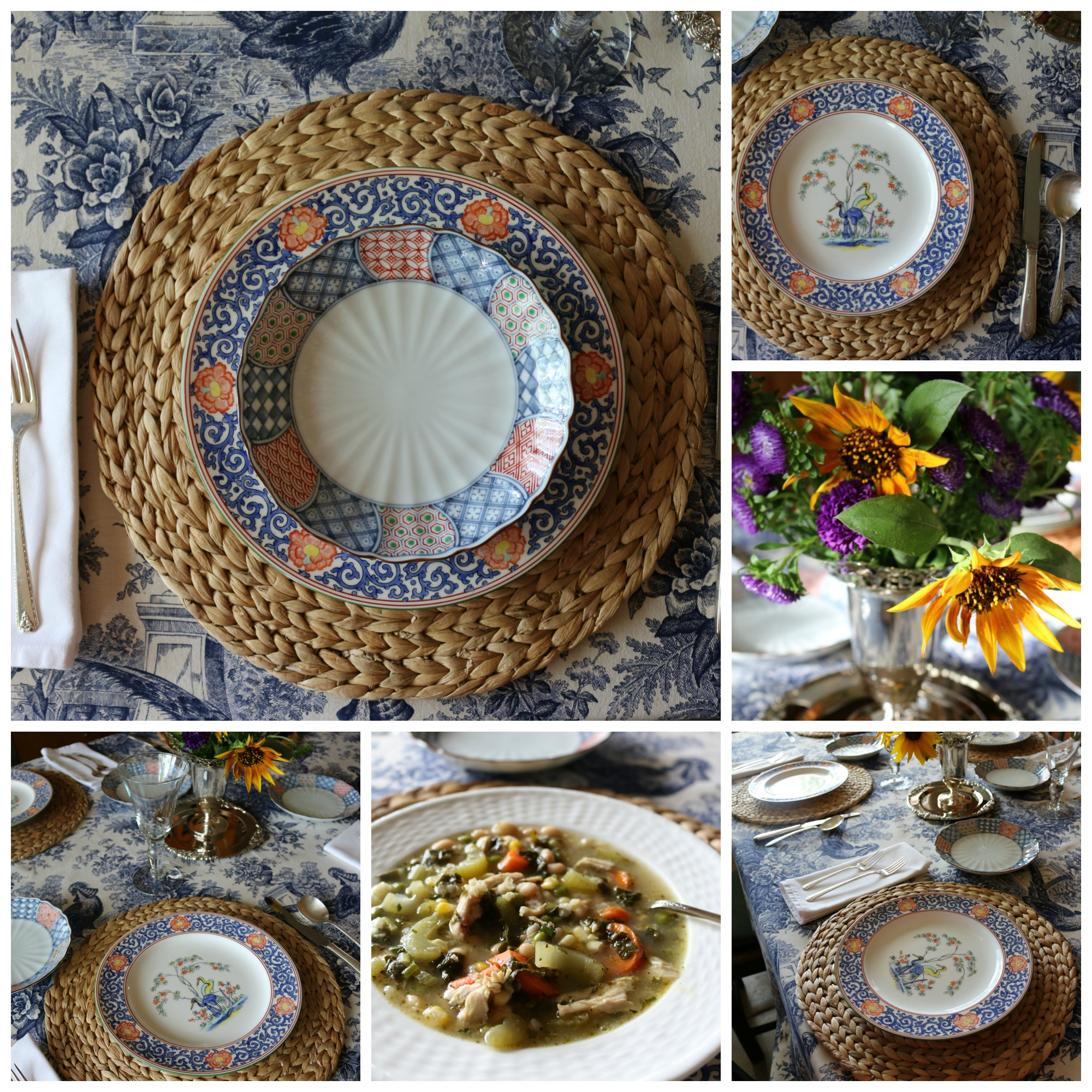 A Wedgewood China Table Setting