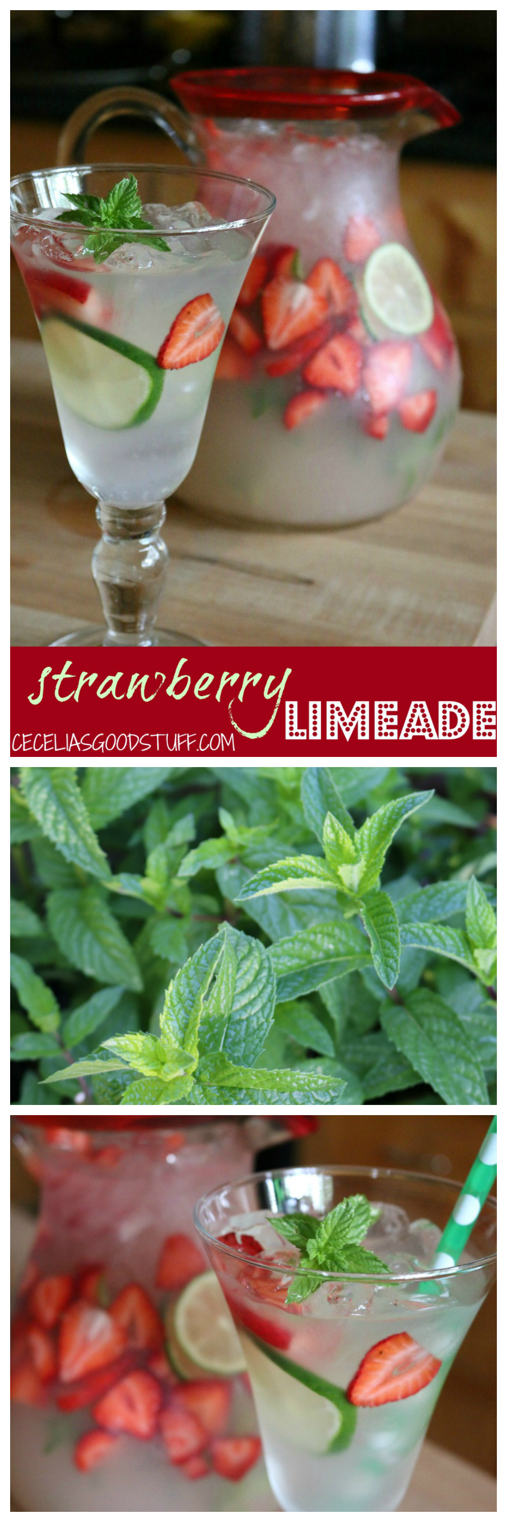 Strawberry Limeade | CeceliasGoodStuff.com | Good Food for Good People