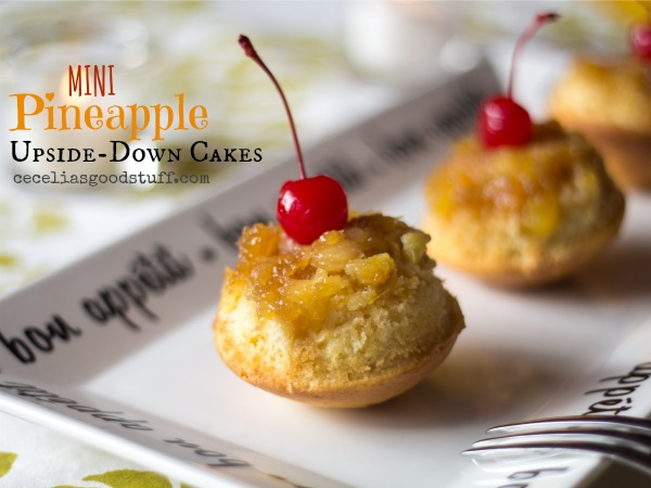 I love a little something sweet and these mini Pineapple Upside-down Cup Cakes are the perfect dessert. | www.ceceliasgoodstuff.com