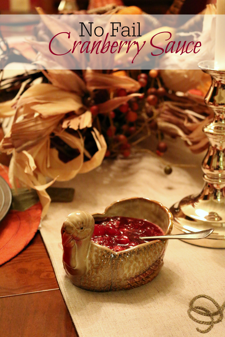 No Fail Cranberry Sauce Recipe - simple as one, two, three . . .