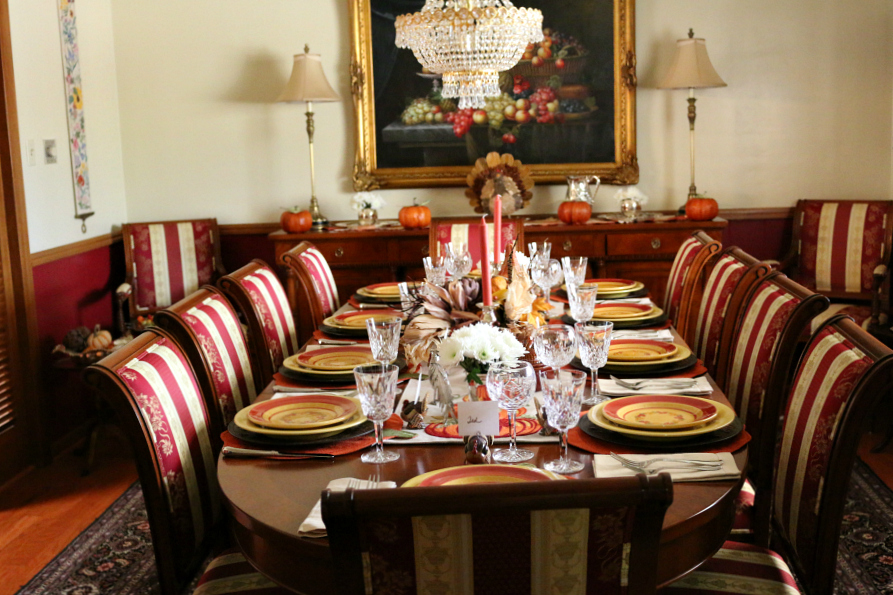 Thanksgiving Dinner Table at Casa Linda, my home in New Mexico.