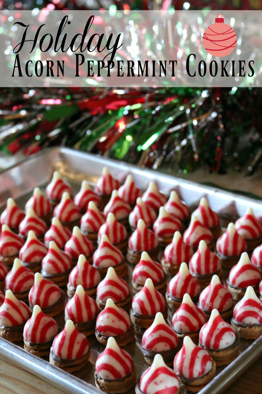 Easy and Simple recipe for Holiday Acorn Peppermint Cookies