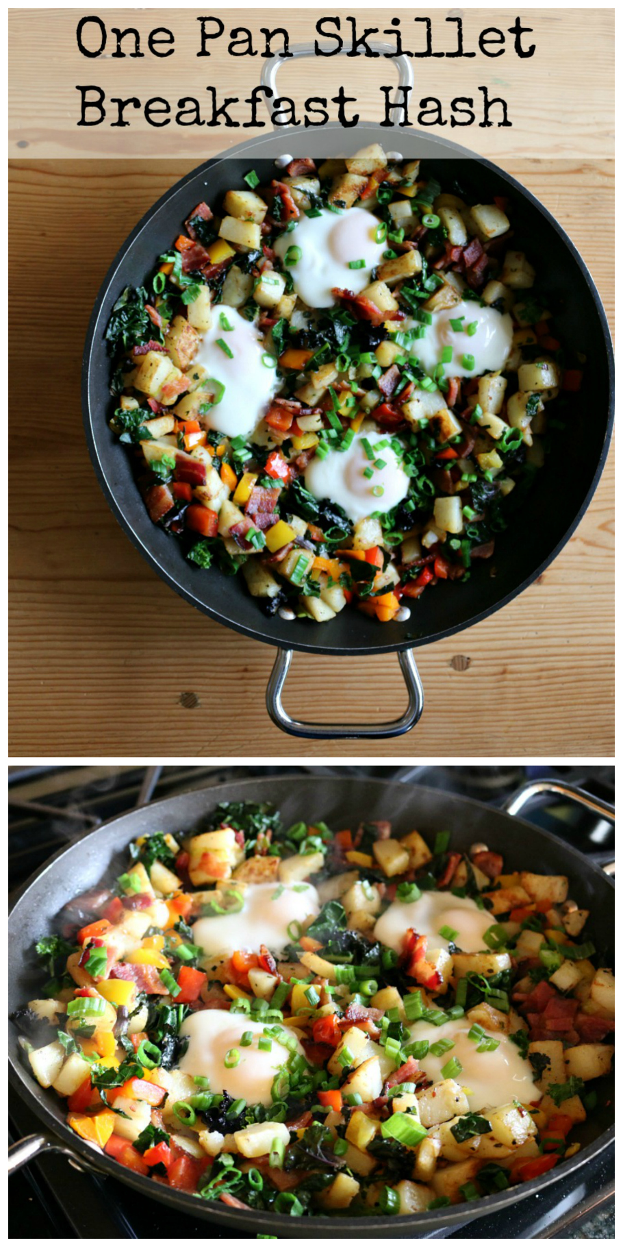 One Pan Breakfast Skillet Hash - a healthy and delicious breakfast recipe from CeceliasGoodStuff.com   Good Food for Good People