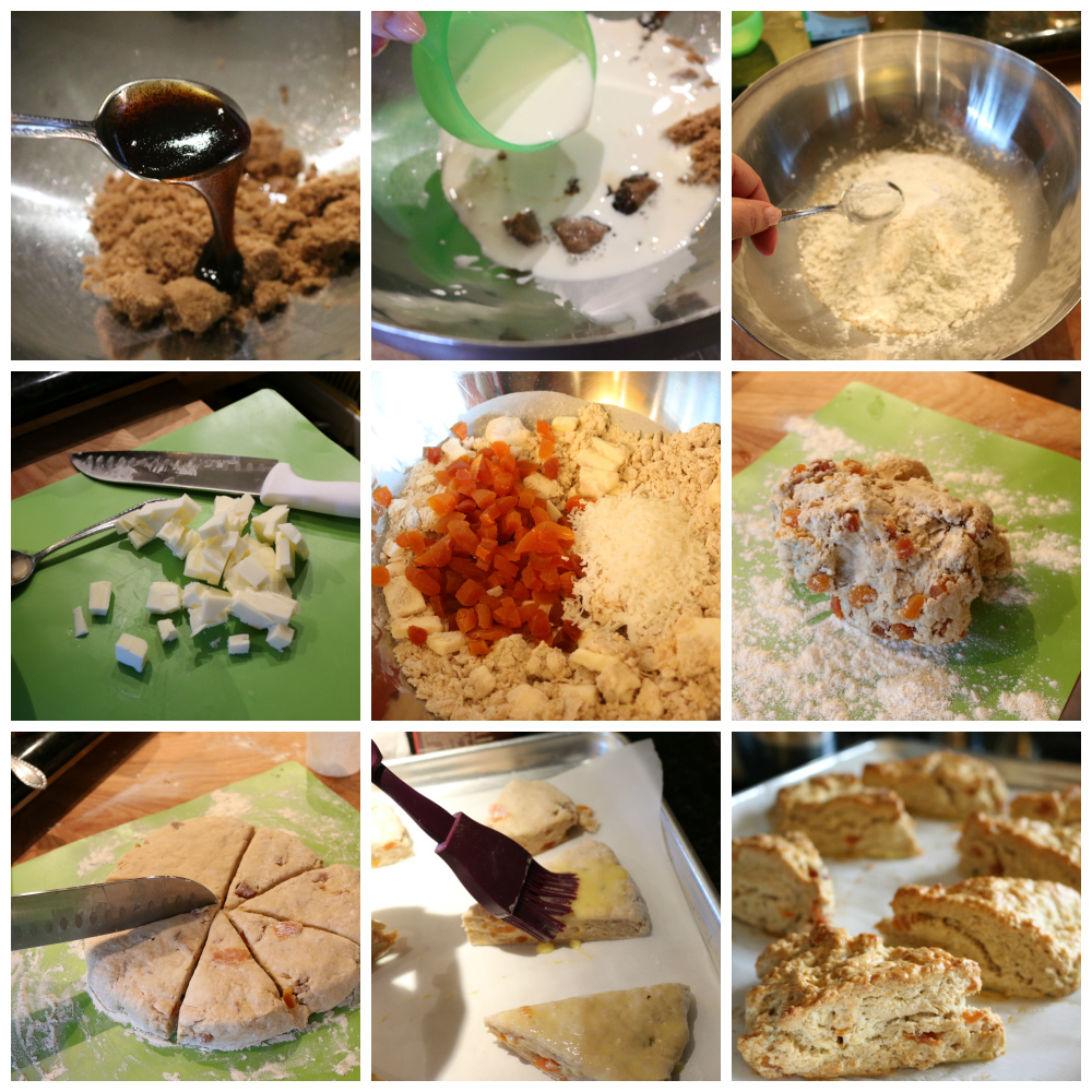 Simple step by step instruction to make these Apricot & Coconut Scones