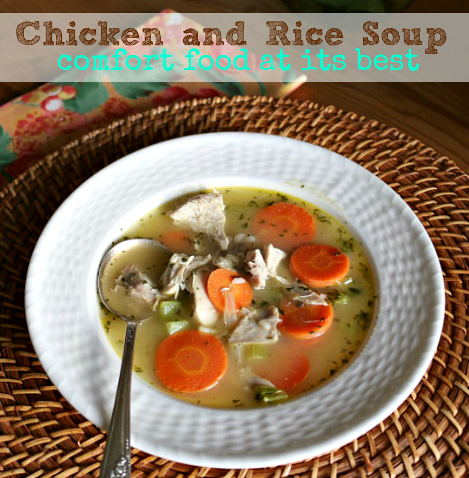 You will love this easy recipe for Chicken and Rice Soup. It is the perfect comfort food. Homemade soup is simply the best! CeceliasGoodStuff.com | Good Food for Good People
