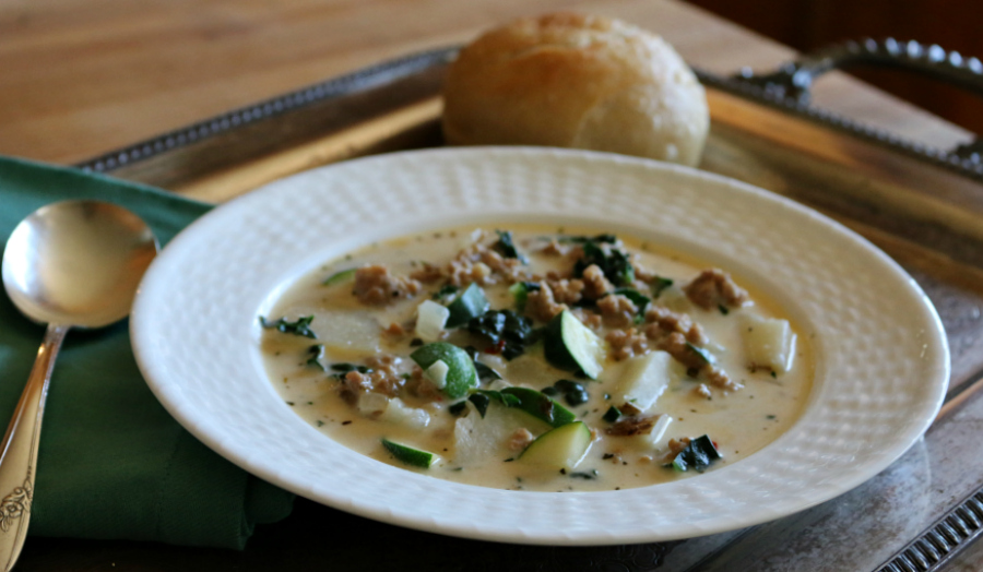 Toscana Italian Kale and Sausage Soup | CeceliasGoodStuff.com | Good Food for Good People