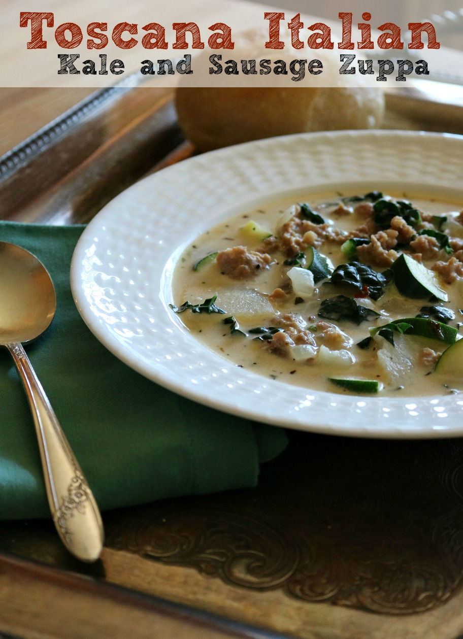 Toscana Italian Kale and Sausage Soup - A taste of Tuscany, Italy | CeceliasGoodStuff.com | Good Food for Good People