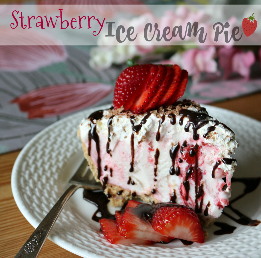 Strawberry Ice Cream Pie Recipe | CeceliasGoodStuff.com | Good Food for Good People