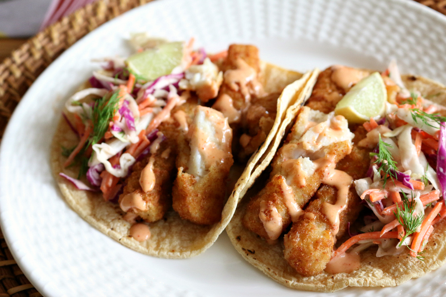 Simple Fish Taco with Chipotle Crema