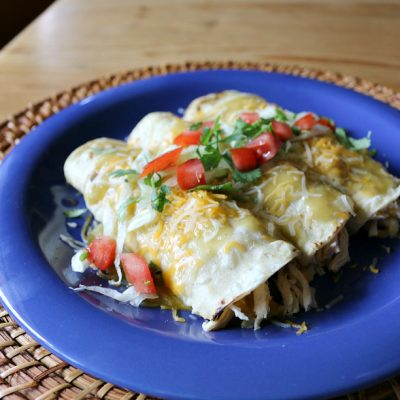 Hatch Green Chile Chicken Enchiladas
