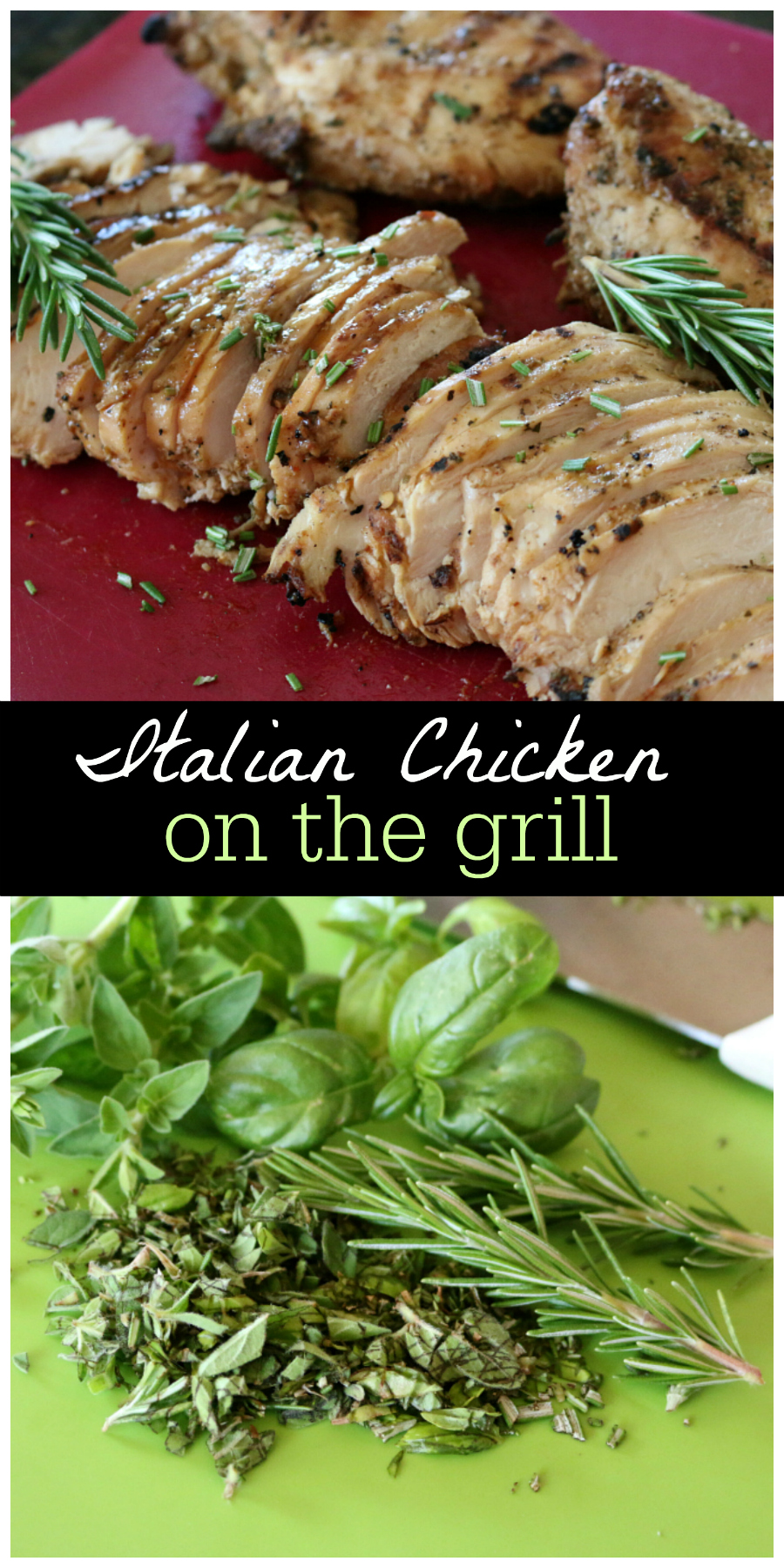 Italian Herb Chicken on the Grill | CeceliasGoodStuff.com | Good Food for Good People