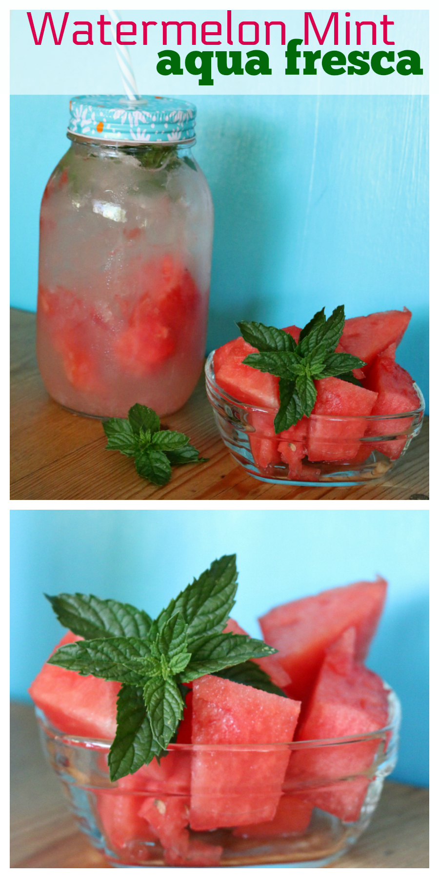 Watermelon Mint Aqua Fresca - a great alternative to soda. | CeceliasGoodStuff.com - Good Food for Good People |