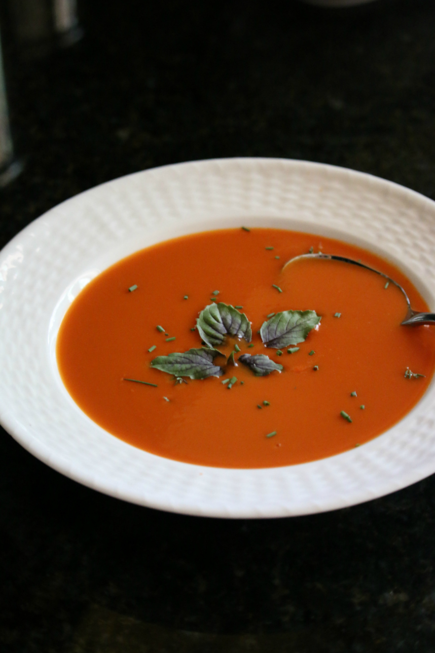 Easy Homemade Tomato Soup CeceliasGoodStuff.com Good Foood for Good People