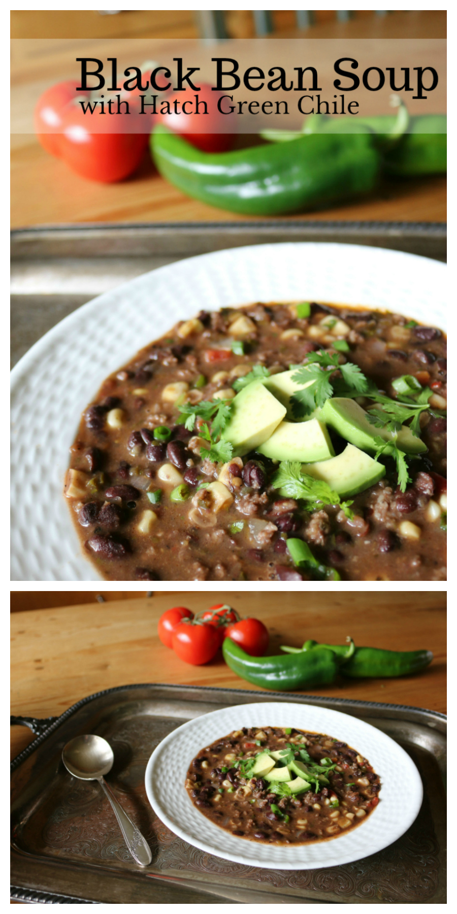 Southwestern Black Bean Soup with Hatch Chile CeceliasGoodStuff.com