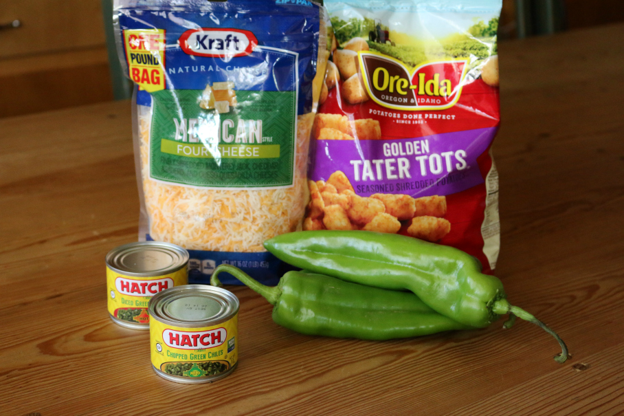 Cheesy Green Chile Tater Tots