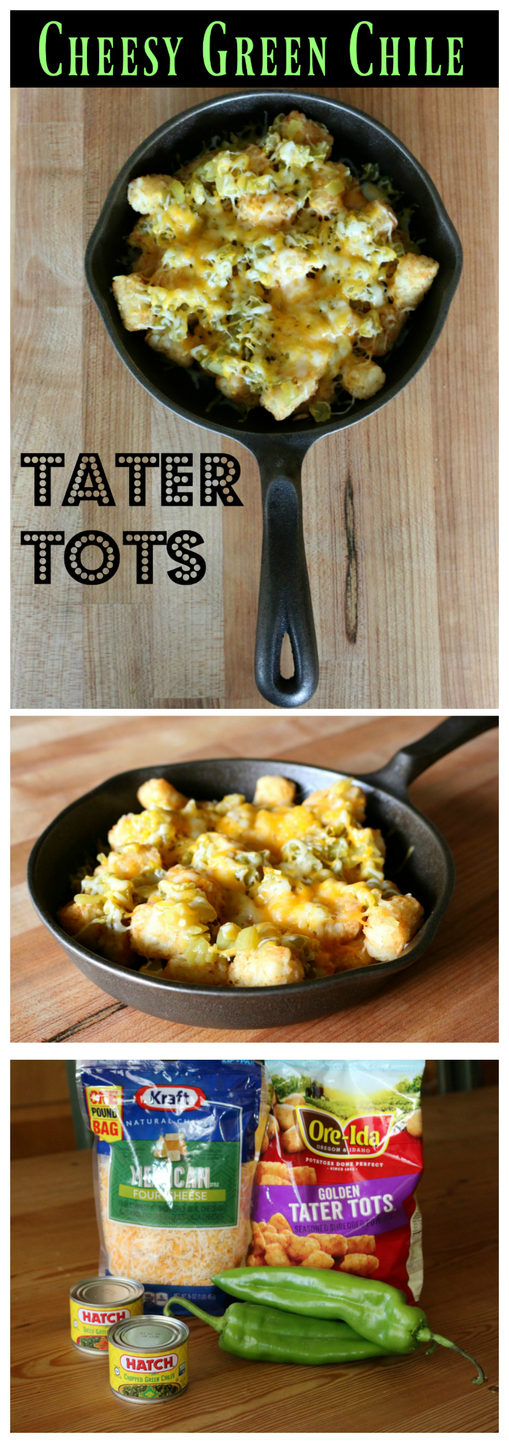 Easy and Simple Appetizer Recipe for Green Chile Tater Tots CeceliasGoodStuff.com Good Food for Good People