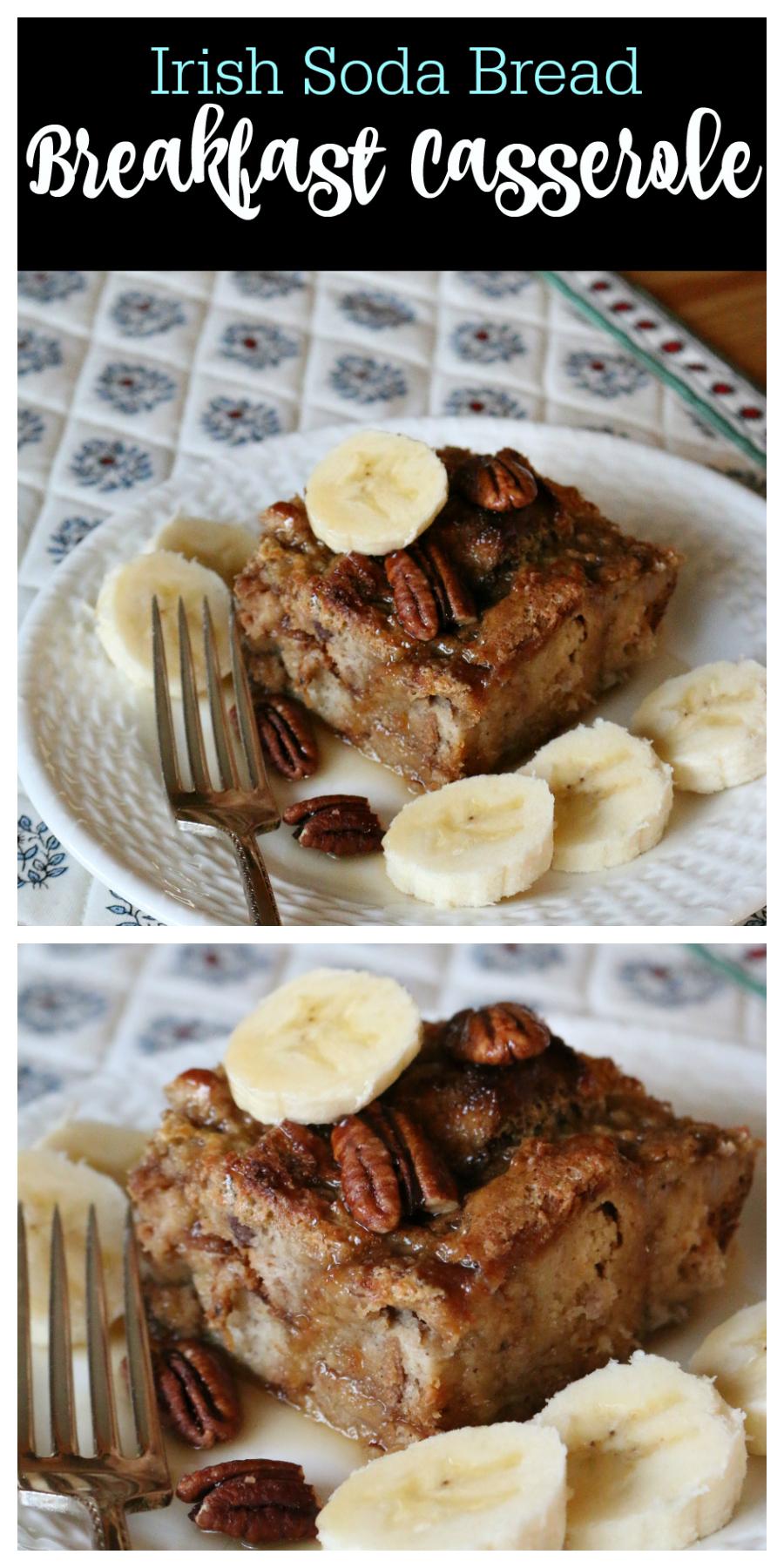 Irish Soda Bread Breakfast Casserole | CeceliasGoodStuff.com | Good Food for Good People