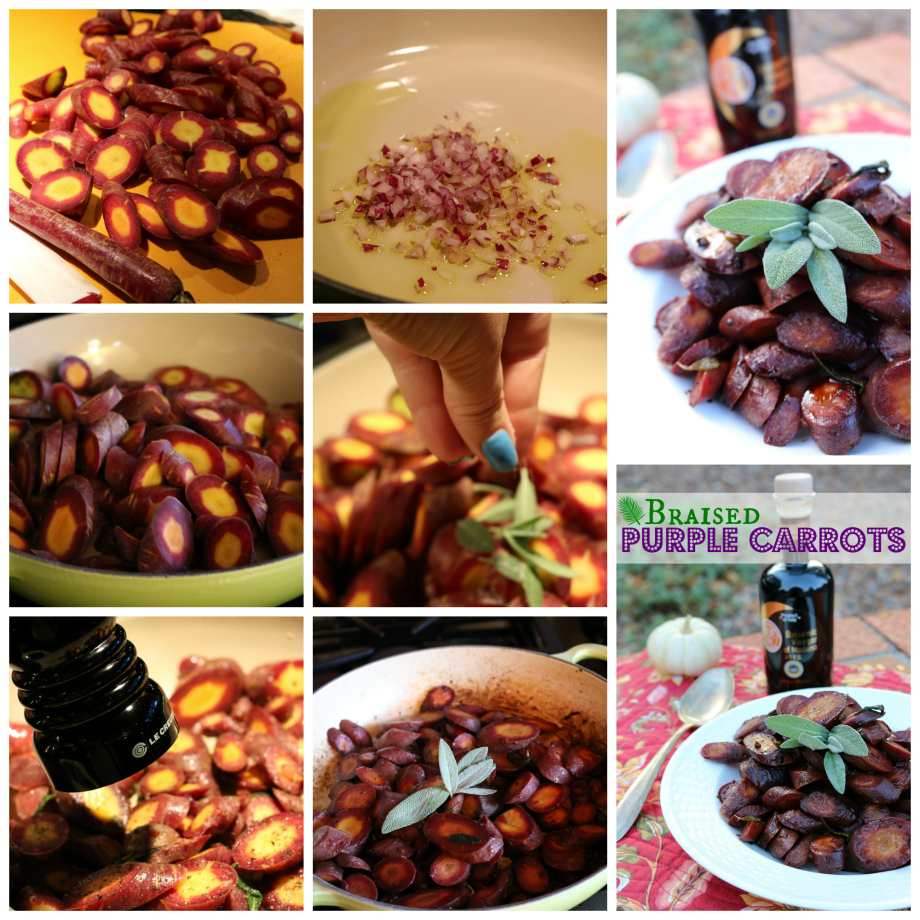 Steps for making Savory Braised Purple Carrots | CeceliasGoodStuff.com | Good Food for Good People