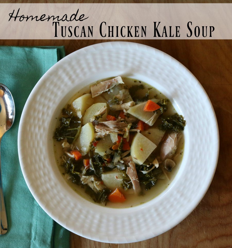 Easy Homemade Tuscan Chicken Kale Soup Recipe