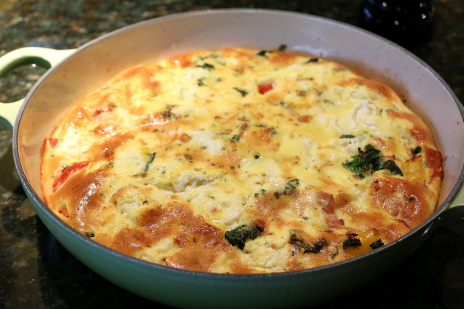 Ham and Veggie Breakfast  Frittata - a cast iron recipe  CeceliasGoodStuff.com