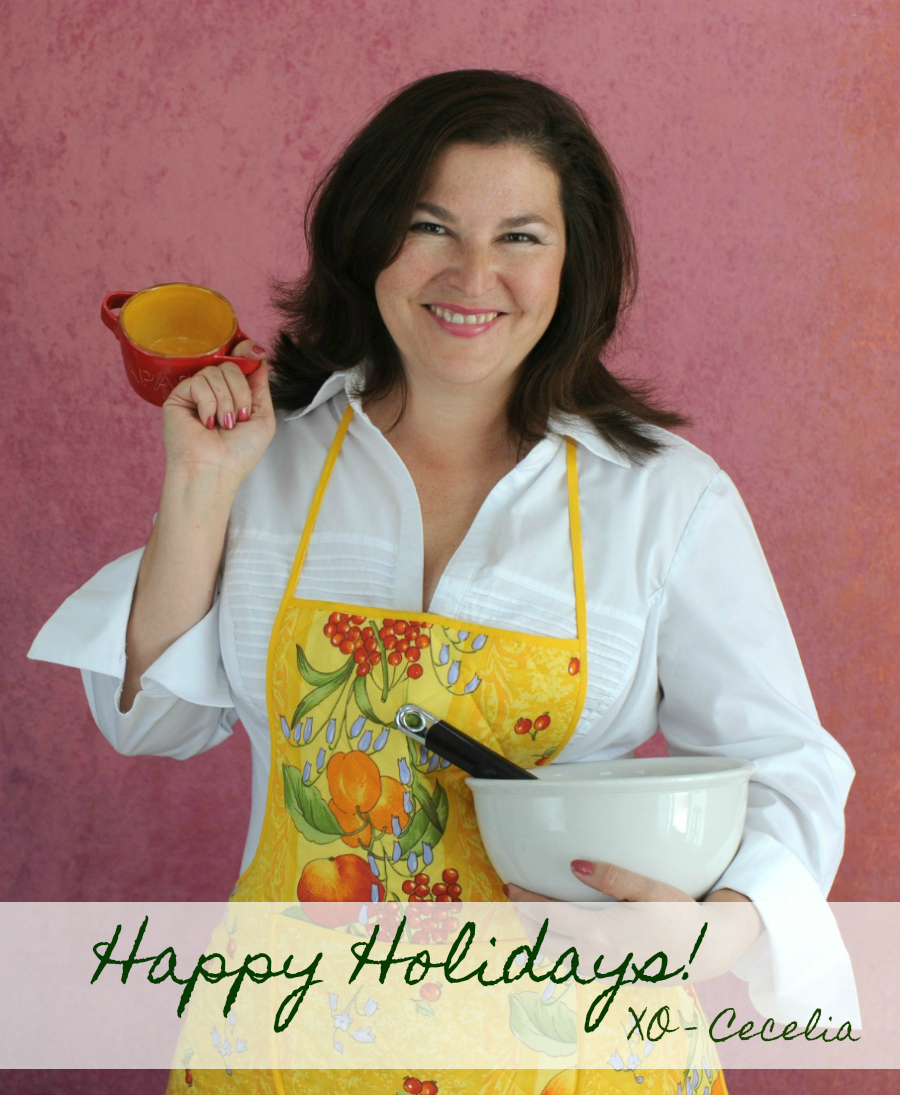 Happy Holidays, Cecelia Dardanes | CeceliasGoodStuff.com | Good Food for Good People