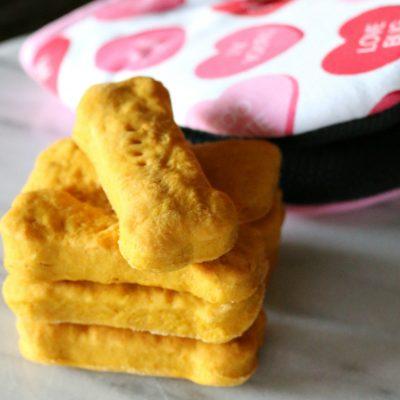 Valentine Pumpkin Doggie Biscuits