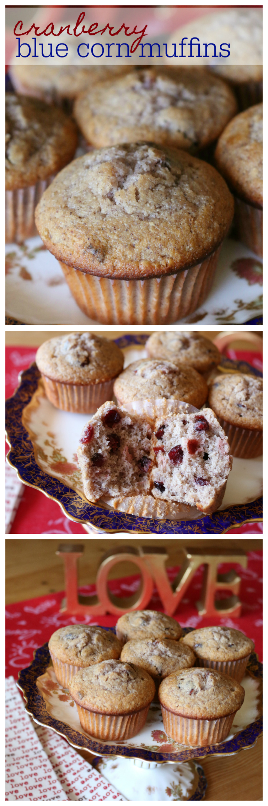 A Cranberry Blue Corn Breakfast Muffin Recipe | CeceliasGoodStuff.com | Good Food for Good People