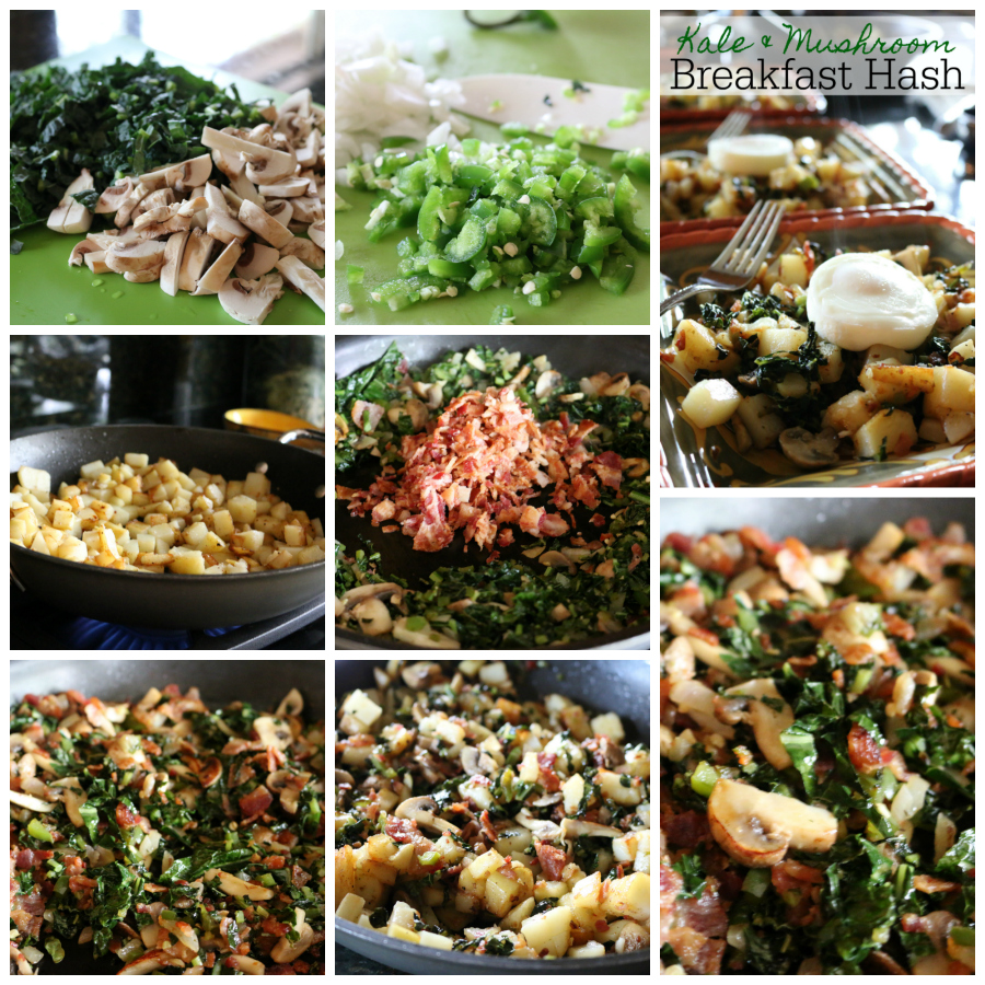 A scrumptious recipe for Kale & Mushroom Breakfast Hash! CeceliasGoodStuff.com Good Food for Good People
