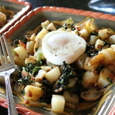 Kale & Mushroom Breakfast Hash