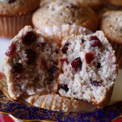 Cranberry Blue Corn Breakfast Muffins