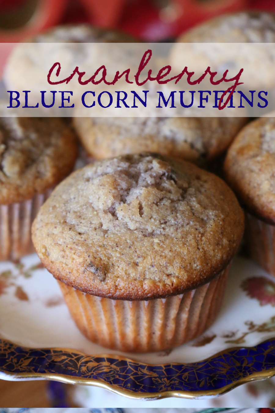 Cranberry Blue Corn Muffins CeceliasGoodStuff.com | Good Food for Good People