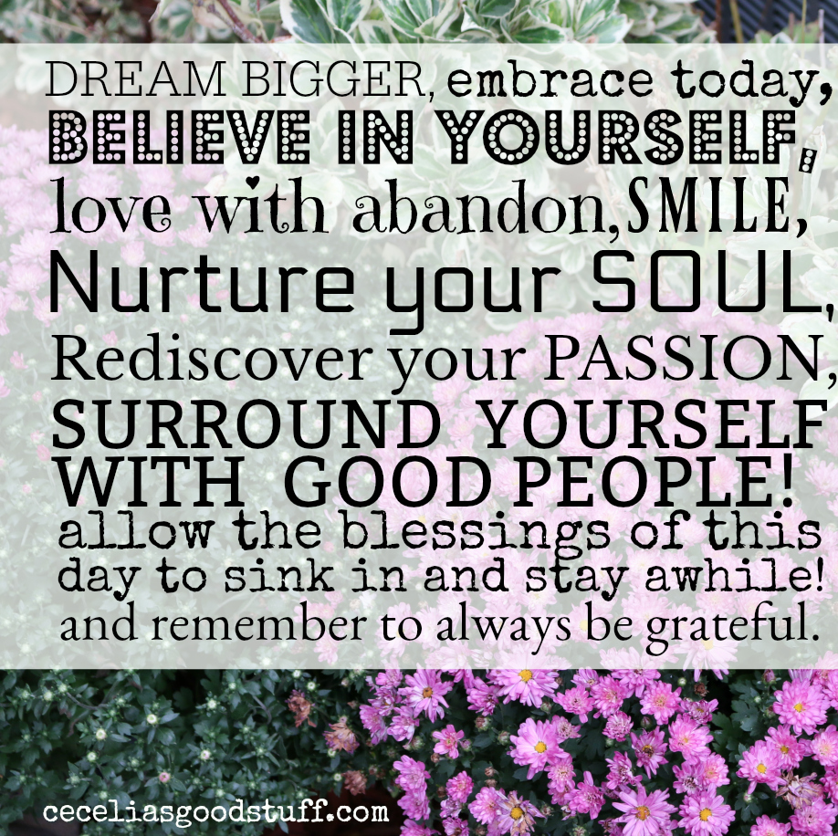Dream Bigger . . . CeceliasGoodStuff.com - Inspiration for the day.