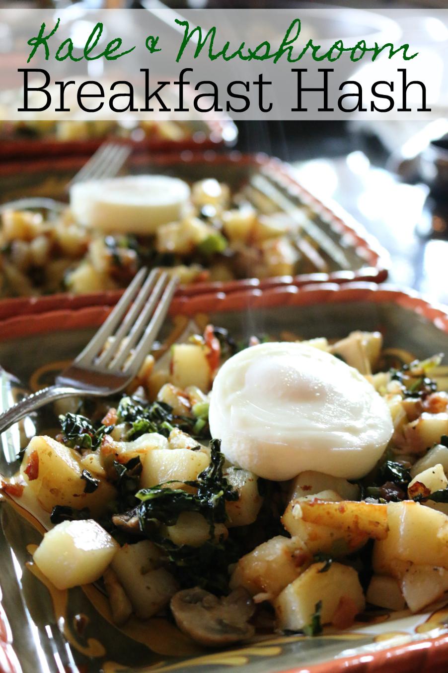 Kale & Mushroom Breakfast Hash CeceliasGoodStuff.com Good Food for Good People
