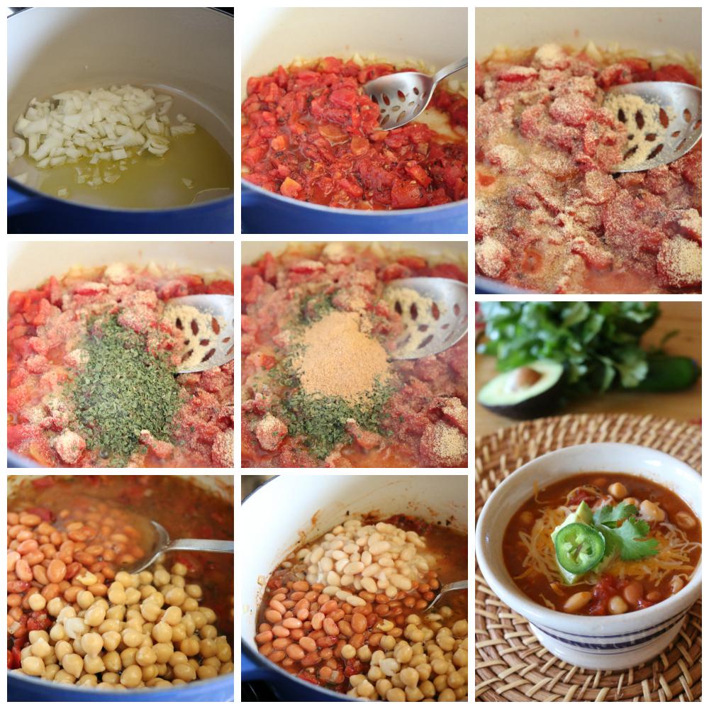 Three Bean Chili Recipe CeceliasGoodStuff.com   Good Food for Good People