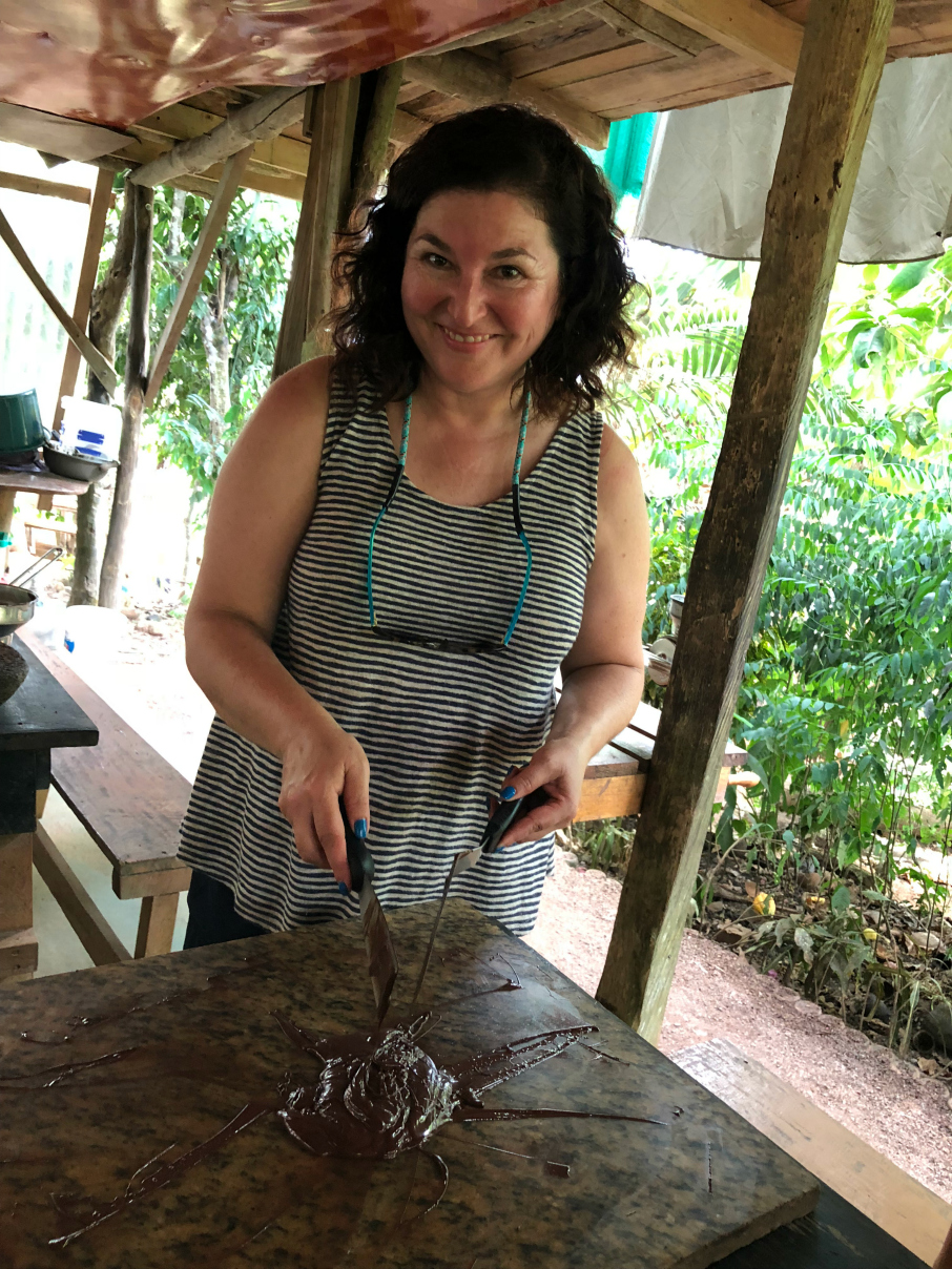 I wanted to try it. Cecelia Dardanes at La Iguana Chocolate in Costa Rica