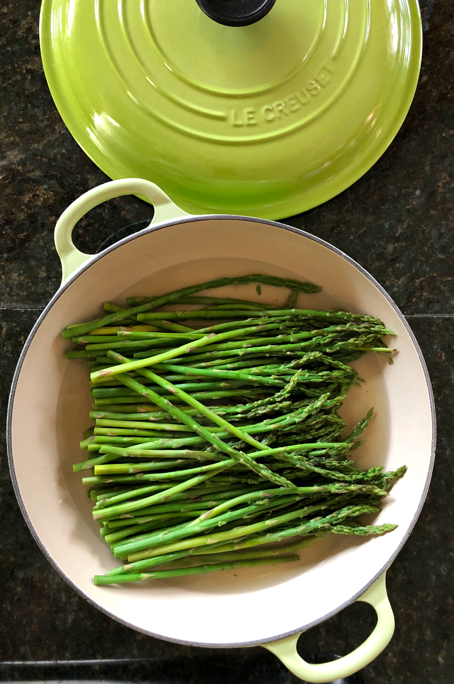 Simple and Easy Steamed Asparagus CeceliasGoodStuff.com Good Food for Good People