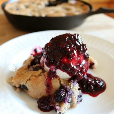 A Cast Iron Blueberry Cobbler Recipe