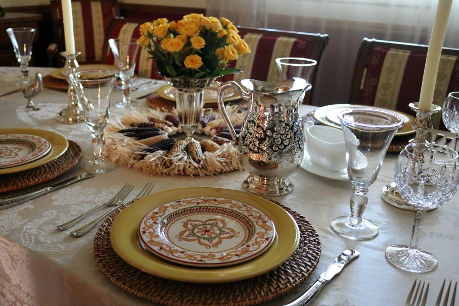 Thanksgiving Table Setting CeceliasGoodStuff.com Good Food for Good People