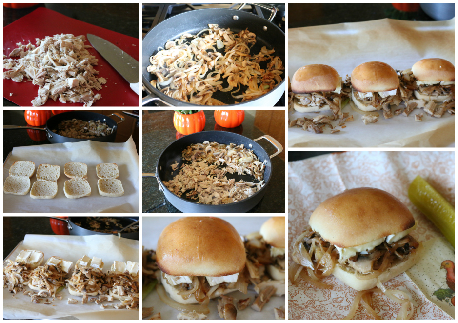 Turkey Sandwich with Mushrooms, Onions and Melted Brie Cheese | CeceliasGoodStuff.com | Good Food for Good People