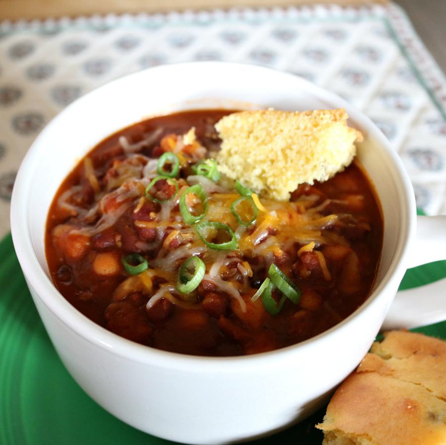A Southwestern Turkey Chile and Cornbread CeceliasGoodStuff.com   Good Food for Good People