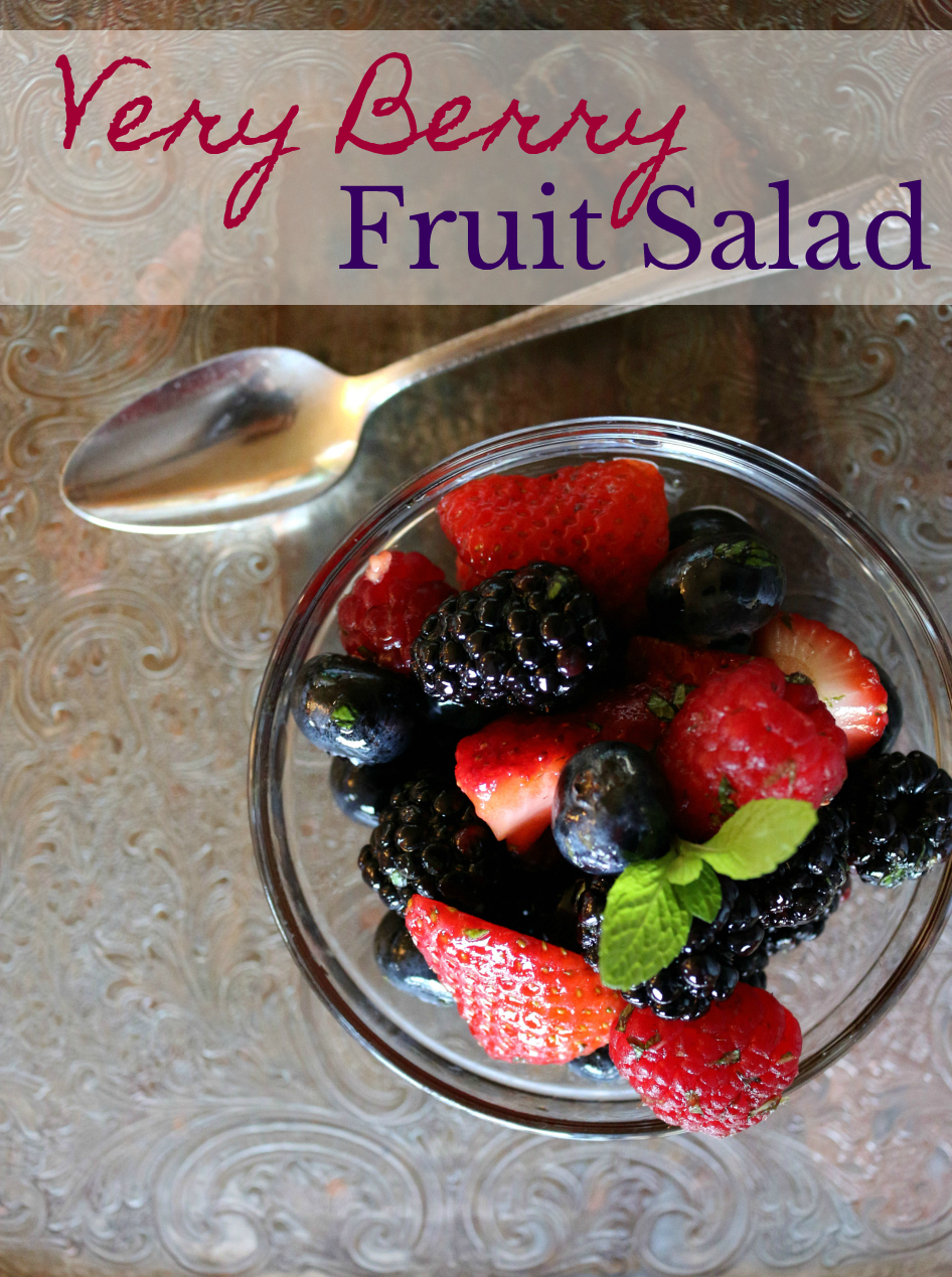 A Healthy Dessert - A Very Berry Fruit Salad Gluten Free and Dairy Free CeceliasGoodStuff.com