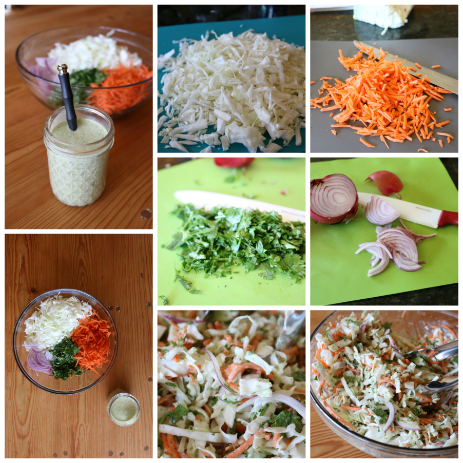 Coleslaw with a Spicy Green Chile Ranch Dressing CeceliasGoodStuff.com | Good Food for Good People