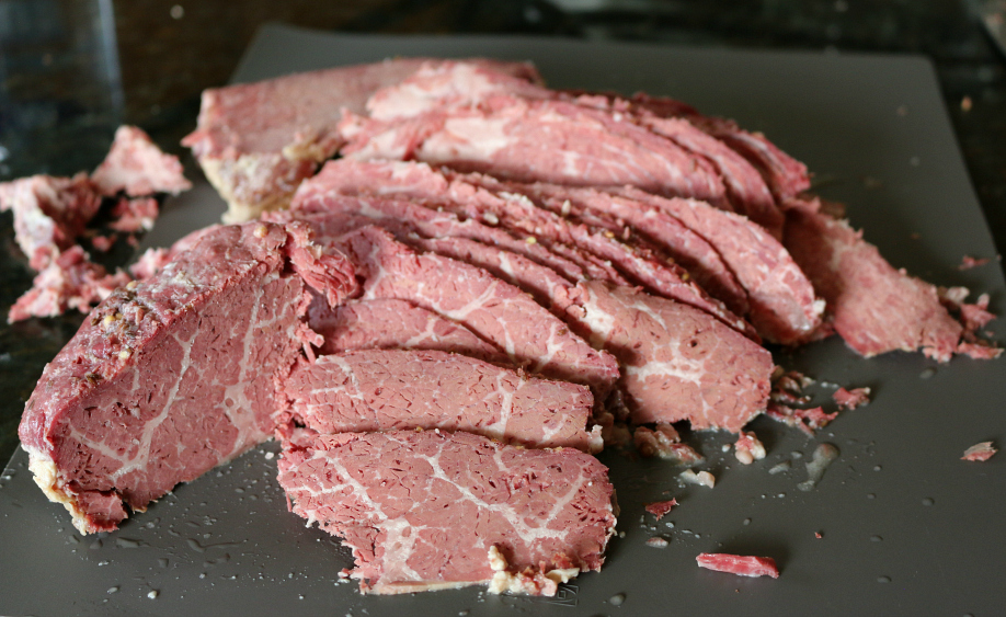 Slow Oven Roasted Corn Beef - Sliced Corn Beef CeceliasGoodStuff.com | Good Food for Good People