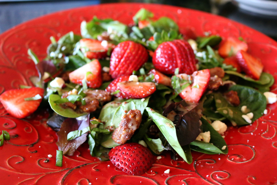 Spinach Strawberry Salad CeceliasGoodStuff.com | Good Food for Good People