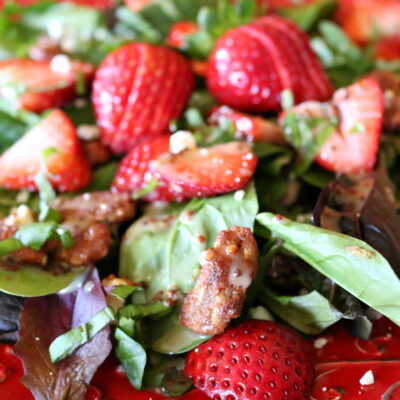 Strawberry Spinach Salad with Honey Mustard Dressing